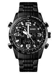 cheap -SKMEI Men's Sport Watch Military Watch Digital Watch Digital Luxury Alarm Stainless Steel Black Analog - Digital - Black One Year Battery Life / Calendar / date / day / Chronograph / Dual Time Zones