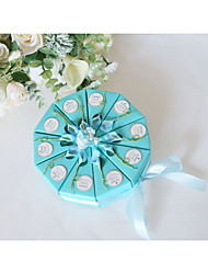 cheap -Round Grosgrain / Art Paper Favor Holder with Satin Bow / Pattern / Print Favor Boxes / Gift Boxes - 10pcs