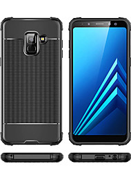 cheap -Case For Samsung Galaxy A6 (2018) / A6+ (2018) / Galaxy A7(2018) Shockproof Back Cover Solid Colored Soft TPU