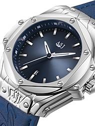 cheap -ASJ Men's Dress Watch Wrist Watch Japanese Japanese Quartz Genuine Leather Black / Blue 100 m Water Resistant / Waterproof Calendar / date / day Analog Classic Casual Fashion - Black Blue One Year