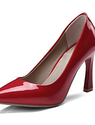 cheap -Women's PU(Polyurethane) Spring Heels Hidden Heel Black / Beige / Red