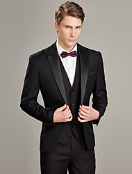 cheap -Tuxedos Tailored Fit Peak Single Breasted One-button Wool / Polyester Solid Colored