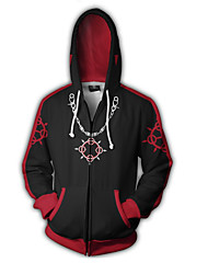 cheap -Inspired by Kingdom Hearts Sora Anime Cosplay Costumes Japanese Cosplay Hoodies Print / Patchwork / Special Design Hoodie For Unisex
