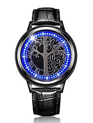 Недорогие -Для пары Наручные часы Японский Цифровой Стеганная ПУ кожа Черный Секундомер Очаровательный Светящийся Цифровой Блестящие Мода - Синия / Черный Черный Черный / Красный Два года Срок службы батареи