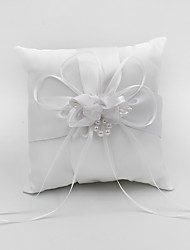 cheap -Plain Sateen Floral Satin Ring Pillow Pillow All Seasons