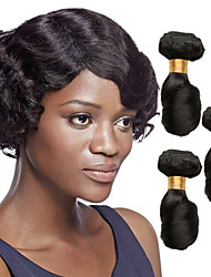cheap -3 Bundles Loose Wave Human Hair Unprocessed Human Hair Headpiece Natural Color Hair Weaves / Hair Bulk Hair Care 8-28 inch Natural Color Human Hair Weaves Life Soft Easy dressing Human Hair Extensions