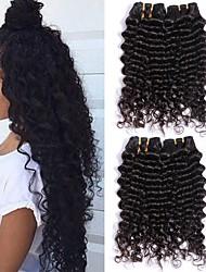 cheap -3 Bundles Malaysian Hair Deep Wave Human Hair Unprocessed Human Hair Wig Accessories Headpiece Natural Color Hair Weaves / Hair Bulk 8-28 inch Natural Color Human Hair Weaves Cool Thick 100% Virgin