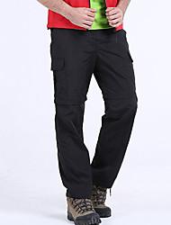 cheap -Men's Hiking Pants Convertible Pants / Zip Off Pants Outdoor Waterproof Breathable Quick Dry Sweat-wicking Pants / Trousers Convertible Pants Bottoms Camping / Hiking Fishing Climbing Black Army