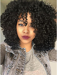 cheap -Remy Human Hair 13x6 Closure Lace Front Wig Deep Parting style Brazilian Hair Curly Natural Wig 150% 180% Density Best Quality Thick Natural Hairline with Clip Glueless Women's Medium Length Human