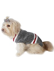 cheap -Dogs Cats Sweater Winter Dog Clothes Red Gray Costume Dalmatian Corgi Bulldog Chinlon Poly / Cotton Blend Vintage Lolita Casual / Daily Keep Warm XS S M L XL