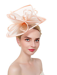 cheap -Tulle / Feathers Kentucky Derby Hat / Fascinators / Headdress with Feather 1 Piece Party / Evening / Business / Ceremony / Wedding Headpiece