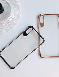 cheap -Case For Apple iPhone XS / iPhone XR / iPhone XS Max Shockproof / Plating / Ultra-thin Back Cover Solid Colored Soft TPU