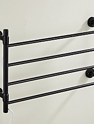 cheap -Towel Bar Multilayer Contemporary Aluminum 1pc 4-towel bar Wall Mounted