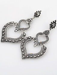 cheap -Women's Drop Earrings Hollow Out Ladies European Silver Plated Gold Plated Earrings Jewelry Gold / Silver For Going out 1 Pair