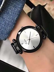 cheap -Couple's Dress Watch Wrist Watch Quartz Black / White / Brown Casual Watch Analog Elegant Minimalist - Silver Fuchsia Coffee