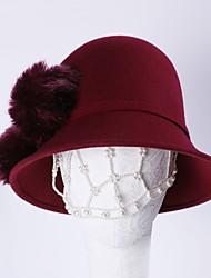 Недорогие -100% шерсть Кентукки дерби шляпа / Головные уборы с Пом пом 1шт Повседневные / На каждый день Заставка