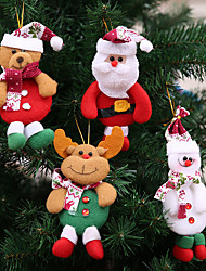cheap -Christmas Decoration Pendants Toy Outside Xmas Tree Hanging Ornament Santa Claus Snowman bear ELK Doll for Home Decor Kids Gift