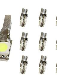 Недорогие -10 шт. T5 Мотоцикл / Автомобиль Лампы 1 W SMD 5050 30 lm 2 Светодиодная лампа Внутреннее освещение Назначение Универсальный Универсальный Универсальный