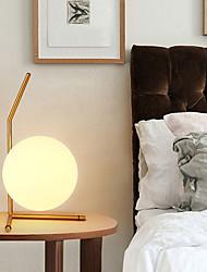 abordables -moderne led blanc boule de verre lampe de table pour chambre salon étage chevet bureau chambre étude chevet bureau lumière or conçoit