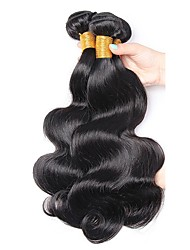 cheap -3 Bundles Indian Hair Body Wave Human Hair Unprocessed Human Hair Headpiece Natural Color Hair Weaves / Hair Bulk Hair Care 8-28 inch Natural Color Human Hair Weaves Waterfall New Arrival Cool Human