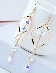 cheap -Women's Drop Earrings Hanging Earrings Long Drop Ladies European Fashion Rhinestone Earrings Jewelry Gold / Silver For Causal Daily 1 Pair