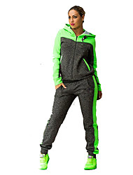 cheap -Women's Elastic Waistband Tracksuit Sweatsuit Casual Long Sleeve Breathable Quick Dry Gym Workout Fitness Sportswear Plus Size Hoodie Pants / Trousers Athleisure Wear Pink Green Activewear
