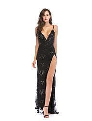 cheap -Women's Daily Slim Bodycon Dress Strap Black M L XL