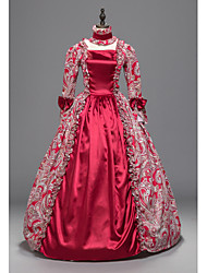 cheap -Rococo Victorian Costume Women's Party Costume Red Vintage Cosplay Padded Fabric 3/4 Length Sleeve Ankle Length Ball Gown Plus Size Customized