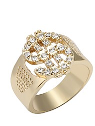 cheap -Ring 3D Gold 18K Gold Plated Rhinestone Alloy Ladies Unique Design Fashion 1pc 9 10 / Women's