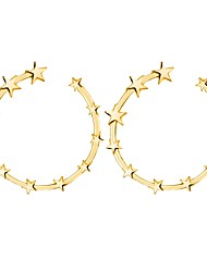 cheap -Women's Stud Earrings Classic Star Ladies Rococo Earrings Jewelry Gold / Silver For Party / Evening Ceremony 1 Pair