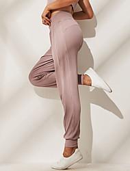 Недорогие -Жен. С высокой талией Гарем Брюки-штаны Сплошной цвет Эластан Zumba Бег Фитнес Нижняя часть Спортивная одежда Дышащий Мягкий 4-сторонняя растяжка Эластичность Обтягивающие