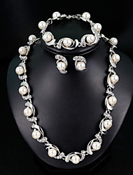 cheap -Women's Drop Earrings Necklace Bracelet Classic Stylish European Elegant Pearl Earrings Jewelry White For Wedding Daily