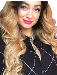 cheap -Remy Human Hair Full Lace Lace Front Wig Asymmetrical Beyonce style Brazilian Hair Body Wave Natural Wave Natural Golden Wig 130% 150% 180% Density Soft Women Easy dressing Best Quality Fashion