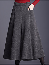 cheap -Women's Basic Daily Wide Leg Pants - Solid Colored High Waist Black Dark Gray XL XXL XXXL