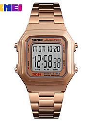 Недорогие -SKMEI Смарт Часы Цифровой Современный Спортивные 30 m Защита от влаги Календарь Повседневные часы Аналоговый На каждый день Мода - Черный Розовое золото Черный / Золотистый