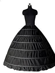 Недорогие -Принцесса Нижняя юбка пачка Под юбкой Classic Lolita 1950-е года 6 обруч Черный Белый Нижняя юбка / Кринолин