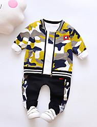 cheap -Baby Boys' Basic Daily Print Long Sleeve Regular Clothing Set Blue / Toddler