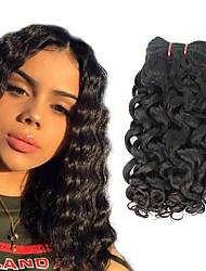 cheap -4 Bundles Brazilian Hair Water Wave Human Hair Unprocessed Human Hair Headpiece Natural Color Hair Weaves / Hair Bulk Hair Care 8-28 inch Natural Color Human Hair Weaves Cosplay Best Quality Hot Sale