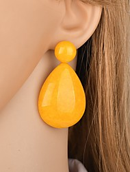 cheap -Women's Drop Earrings Retro two stone Pear Mood Ladies Classic Vintage Oversized Resin Earrings Jewelry Green / Blue / Pink For Party Festival 1 Pair