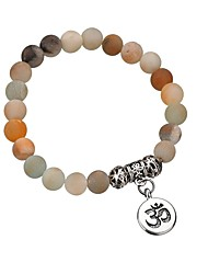 cheap -Women's Bead Bracelet Frosted Ball Ladies Stylish Classic Stone Bracelet Jewelry Silver For Daily