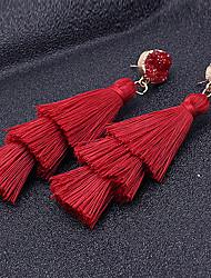 cheap -Women's Drop Earrings Tassel Spike Ladies Tassel Vintage Boho Earrings Jewelry Light Blue / Dark Navy / Beige / White For Ceremony Carnival 1 Pair