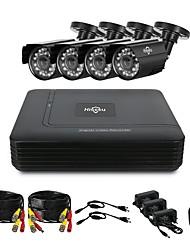 cheap -Hiseeu® CCTV 4CH security Camera System set 4pcs 1080P AHD Waterproof street Camera outdoor 2MP video Surveillance Kit home