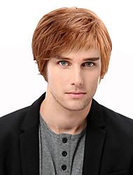 cheap -Human Hair Blend Wig Short Straight Short Hairstyles 2020 Straight Side Part Machine Made Men's Natural Black #1B Medium Auburn#30 Strawberry Blonde / Light Blonde