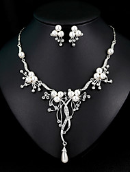 cheap -Women's Drop Earrings Necklace Classic Stylish European Elegant Imitation Pearl Earrings Jewelry White For Wedding Daily