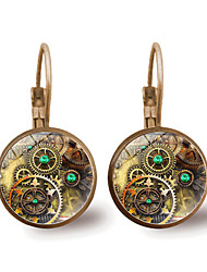 cheap -Women's Hoop Earrings Classic Gear Ladies Vintage Steampunk Kinetic Earrings Jewelry Gold / Silver For Evening Party Masquerade 1 Pair