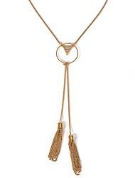 cheap -Women's Pendant Necklace Long Necklace Long Ladies Dangling European Romantic Copper Alloy Gold 42 cm Necklace Jewelry 1pc For Going out Valentine