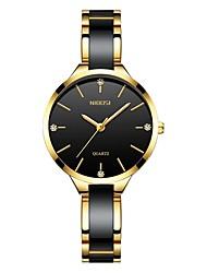 cheap -Men's Dress Watch Wrist Watch Japanese Japanese Quartz Stainless Steel Black / White / Gold 30 m Water Resistant / Waterproof Cool Imitation Diamond Analog Classic Fashion - Black / Gold Rose Gold