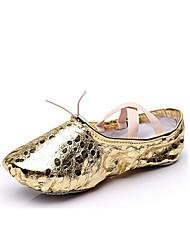 cheap -Women's Dance Shoes Synthetics Ballet Shoes Polka Dot Flat Flat Heel Customizable Gold / Silver / Indoor / EU39