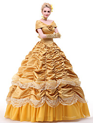 cheap -Bell Cranel Dress Cosplay Costume All Movie Cosplay Vacation Dress Yellow Headpiece Gloves Petticoat Christmas Halloween New Year Satin / Ribbons / Necklace / Necklace / Ribbons