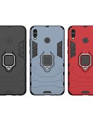 Недорогие -Кейс для Назначение Huawei Huawei Honor 8X Max Защита от удара / Кольца-держатели Кейс на заднюю панель Однотонный / броня Твердый ПК